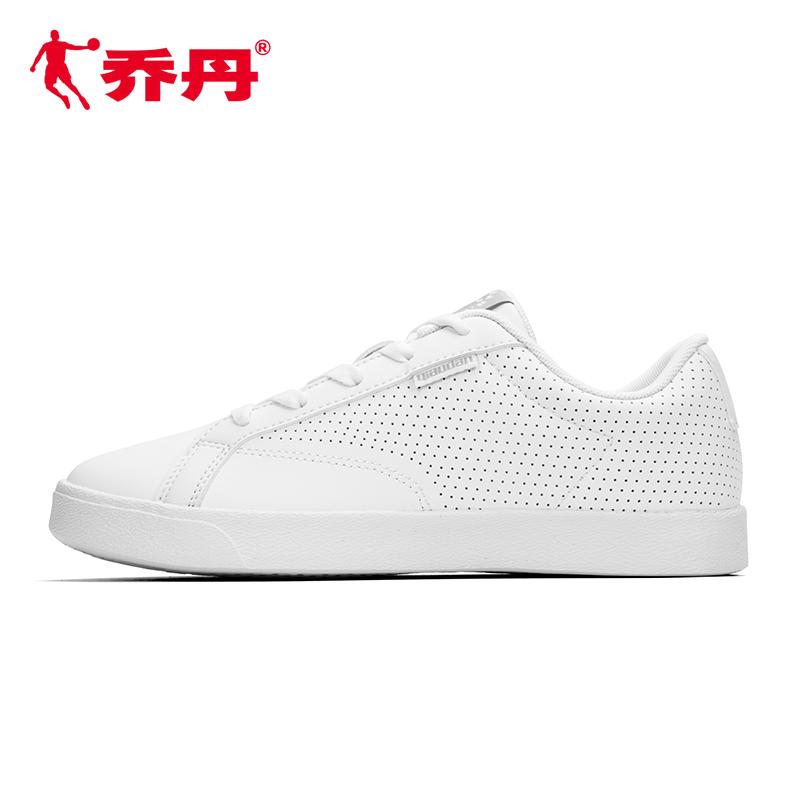 乔丹运动鞋女鞋板鞋女2018秋新款韩版潮小白鞋女休闲鞋白色滑板鞋