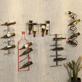 欧式铁艺壁挂式红酒架酒柜置物架简约墙壁吧台葡萄酒展示架工业风