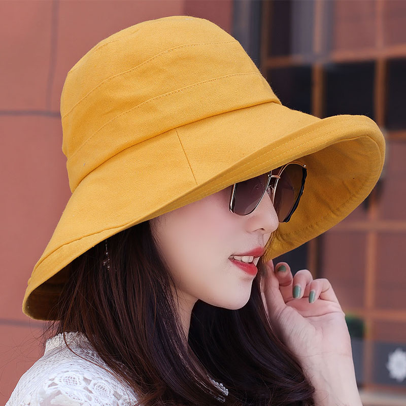 帽子女春夏渔夫帽日系韩版百搭网红棉质遮阳防晒沙滩夏天太阳帽潮