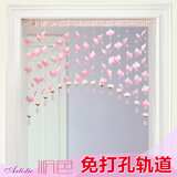 Mijia new pink petals wedding room arrangement door curtain bead curtain decoration half curtain girl's room creative hanging curtain