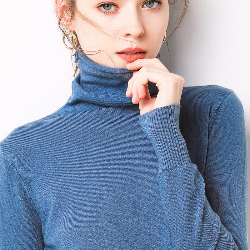 2019秋冬新款高领毛衣女韩版潮女装大码宽松套头衫加厚针织打底衫