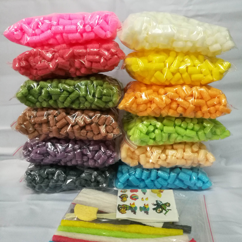 魔法DIY玉米粒幼儿园手工材料制作儿童益智粘粘乐玩具