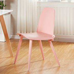北欧餐椅现代简约创意马卡龙色休闲靠背个性电脑椅咖啡厅椅子洽谈