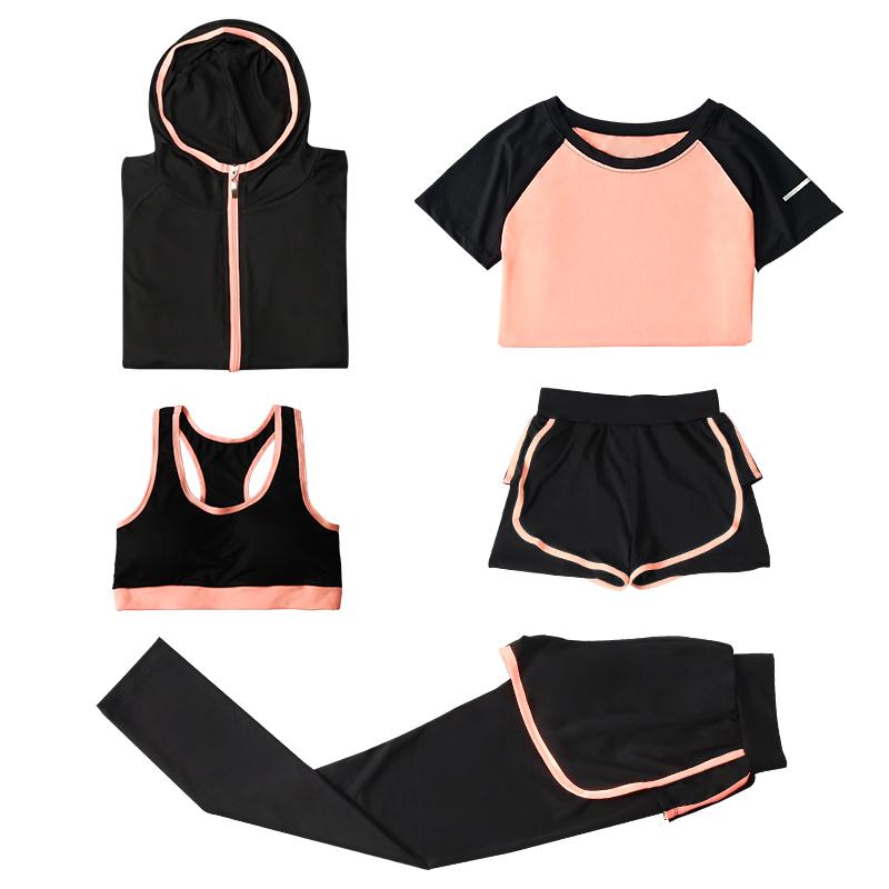 网红健身服套装女瑜伽服2019夏新款速干健身房跑步显瘦专业运动服