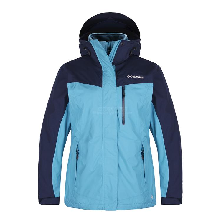 哥伦比亚秋冬户外女装防水透气防风保暖抓绒三合一冲锋衣PL7055
