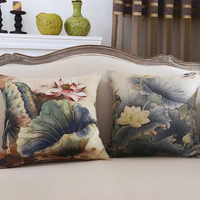中式棉麻亚麻抱枕套 新古典个性时尚红木沙发家具靠垫靠背谁买过的说说