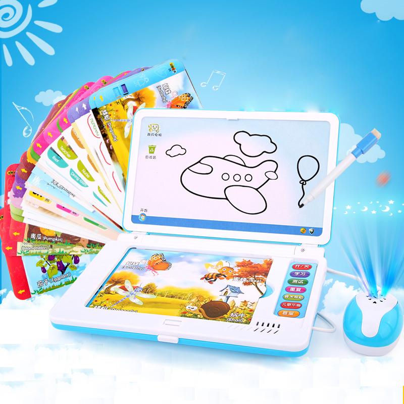 儿童早教学习机婴幼儿玩具0-3-6岁英语小电脑宝宝益智点读故事机