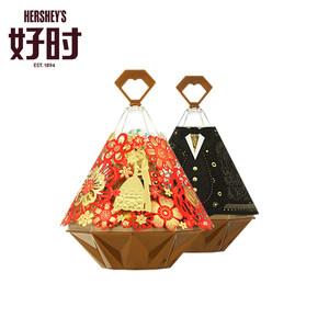好时臻吻巧克力1kg+大臻钻婚庆喜糖盒18个优选喜糖(1箱装)