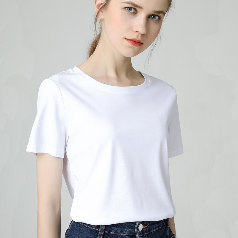 白色t恤女短袖2019新款夏装ins潮韩范学生半袖上衣女宽松圆领体恤