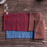 Cotton hemp tea towel suction thickened Chinese wind small tea mat tea table tea table towel Zen retro tea cloth