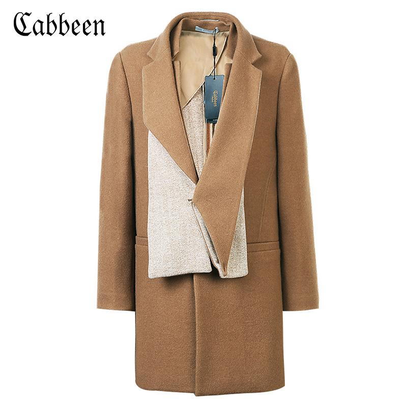 个性中长款大衣