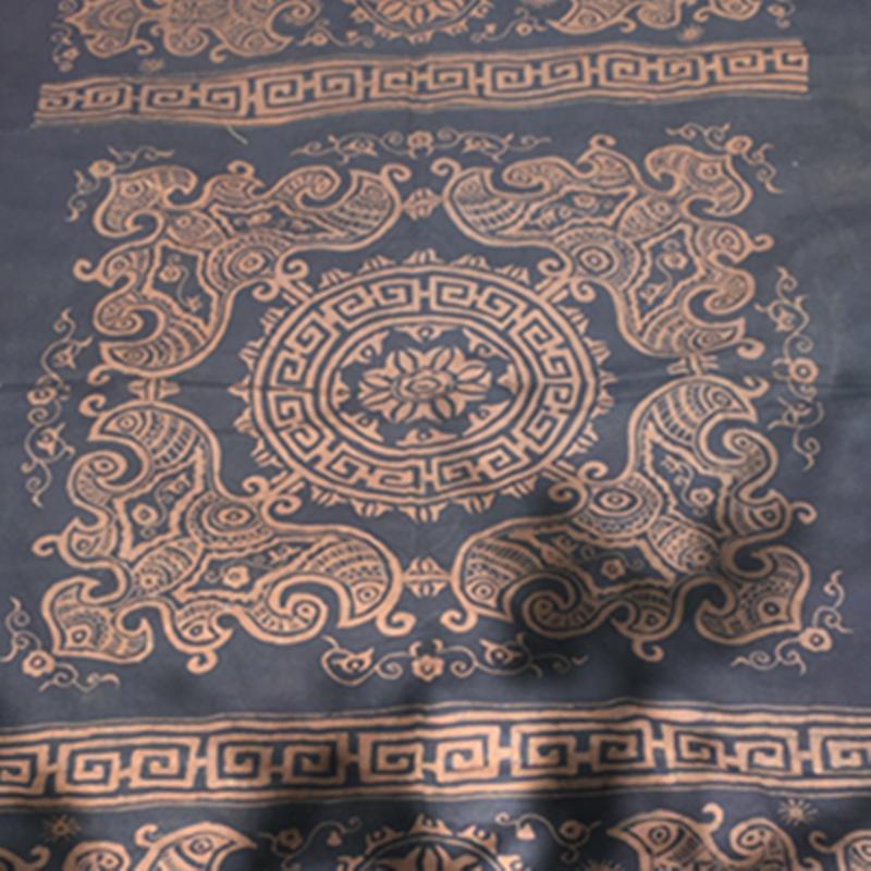 民族风复古手绘蜡染桌布酒店客栈餐厅居家沙发背景墙贴送老外礼物