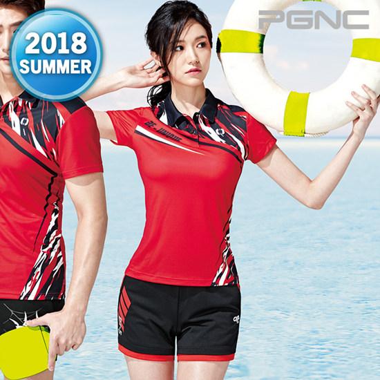 2018热夏新款PGNC羽毛球服PEGGY女子佩极酷速干透气短袖套装正品8