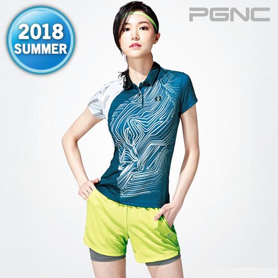 2018热夏新款PGNC羽毛球服PEGGY女子佩极酷速干透气短袖套装正品7