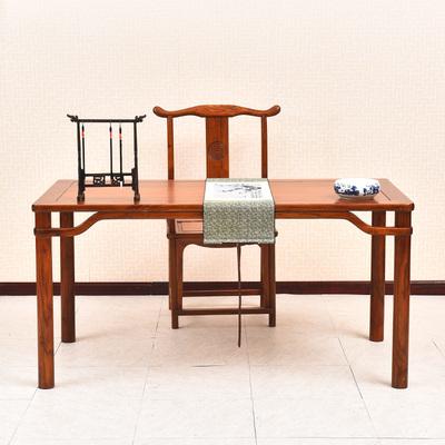 榆木书桌中式书法桌仿古书画桌画案写字台 实木国学桌简约办公桌