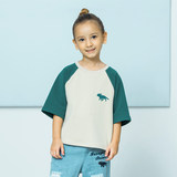 Moveupkids children's clothing summer new girls shirt round neck sleeves color loose boys T-shirt short sleeves