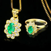 Skirt Sister's Global Jewelry Selection - Natural Colombian Emerald Ring Pendant