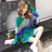 Pregnant women sweater female 2019 new Korean version of the long section of the head loose large size coat jacket bottoming shirt spring and autumn