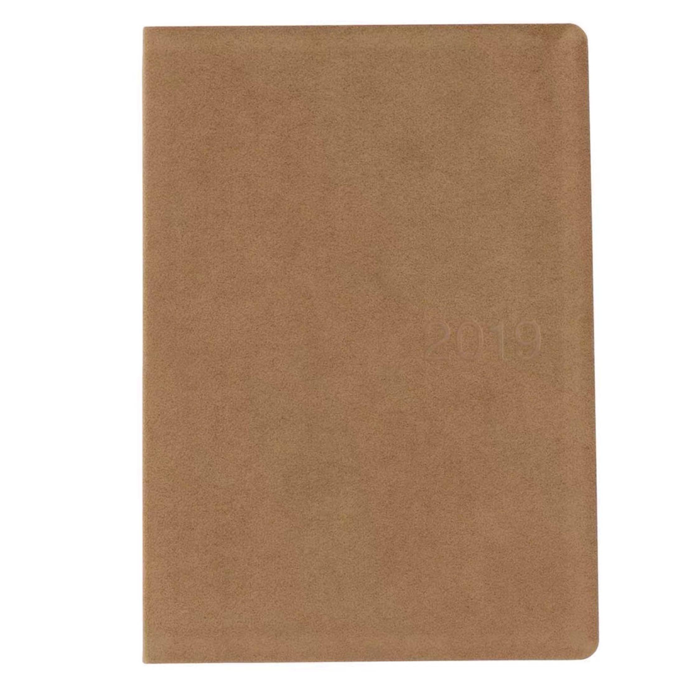 预|售日本MUJI无印良品绒面皮革磨砂封面2020月周计划笔记本日程