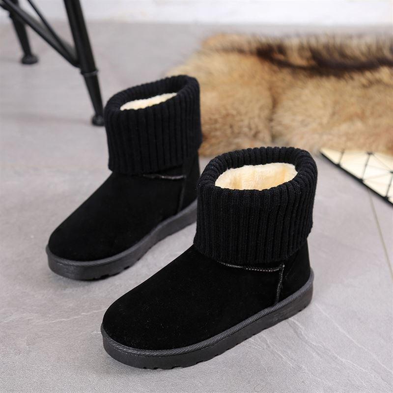 加厚一脚蹬上班穿加绒好看的运动防臭雪地靴女干活反季清仓棉鞋