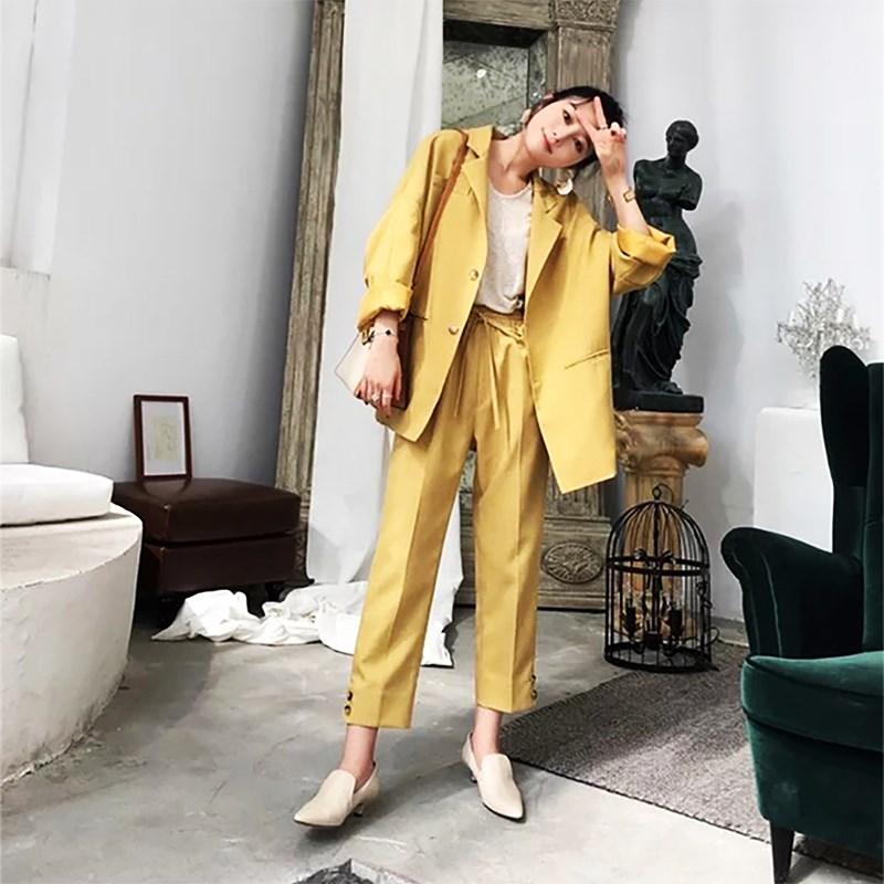 网红春秋新款西装外套女职业套装时尚轻熟ol小西服气质工作服外套