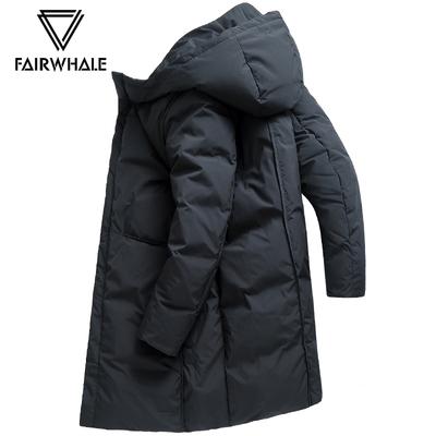 马克华菲羽绒服男中长款2018冬季新款韩版加厚连帽保暖男装外套潮