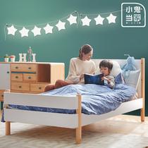 小鬼当家北欧实木儿童床男孩女孩成人简约现代单人床小孩床小床