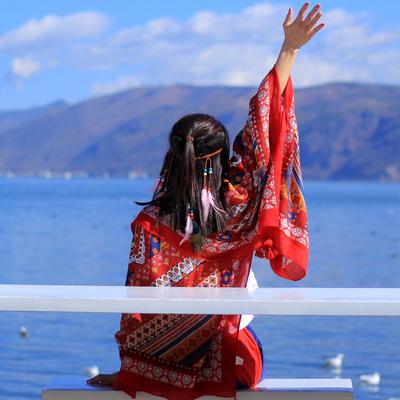 民族风围巾超大防晒披肩夏季长款外搭丝巾女士百搭海边纱巾沙滩巾