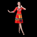 Miao dance costume female 2019 new Guizhou Yunnan Wenshan national wind costumes clothes square dance set