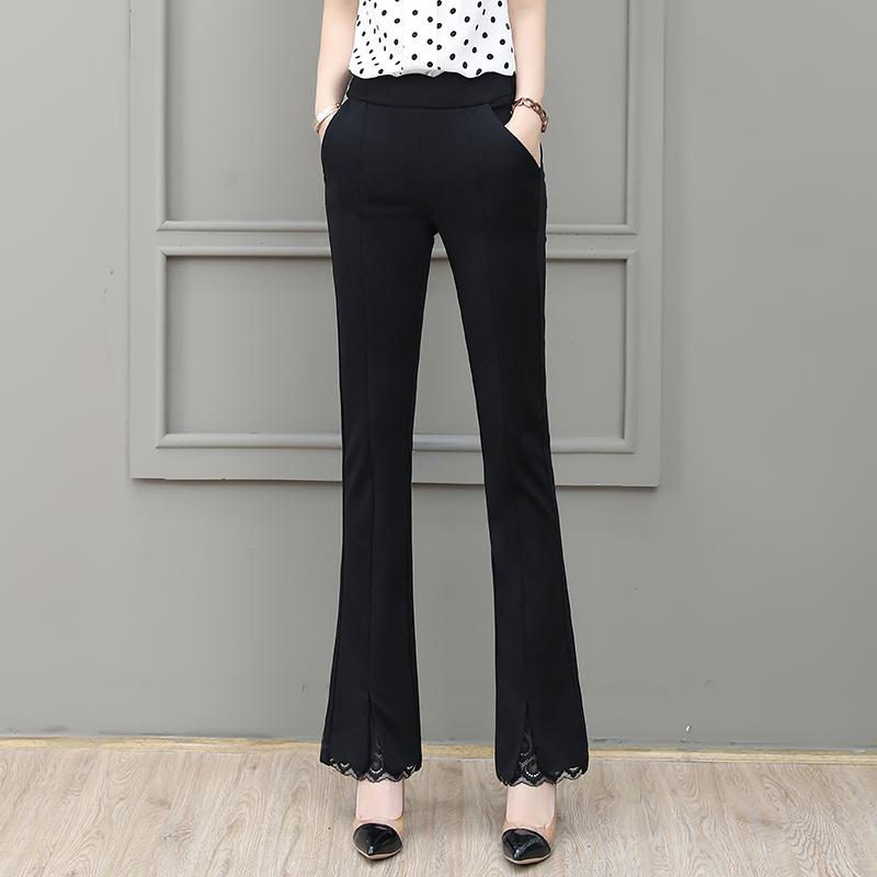 黑色蕾丝长裤