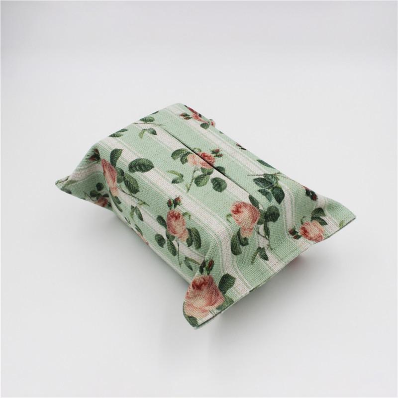 棉麻纸巾盒客厅纸巾套花纸巾袋纸抽盒纸抽袋抽纸袋布艺