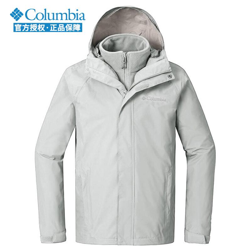 哥伦比亚冲锋衣男士冬新款户外防水防风三合一抓绒内胆外套PM5591