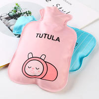 Mini hot water bottle water injection small student hand warmers small portable water flushing water bottle female transparent warm handbag