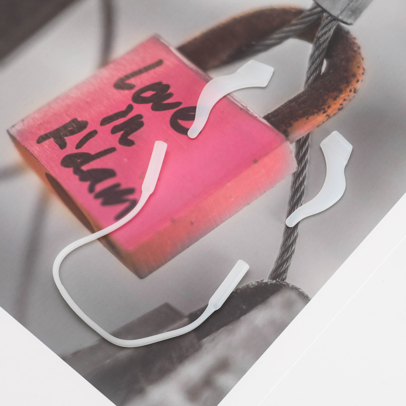 眼镜防滑套固定耳勾托耳拖夹眼睛框减压新支架腿配件硅胶脚套