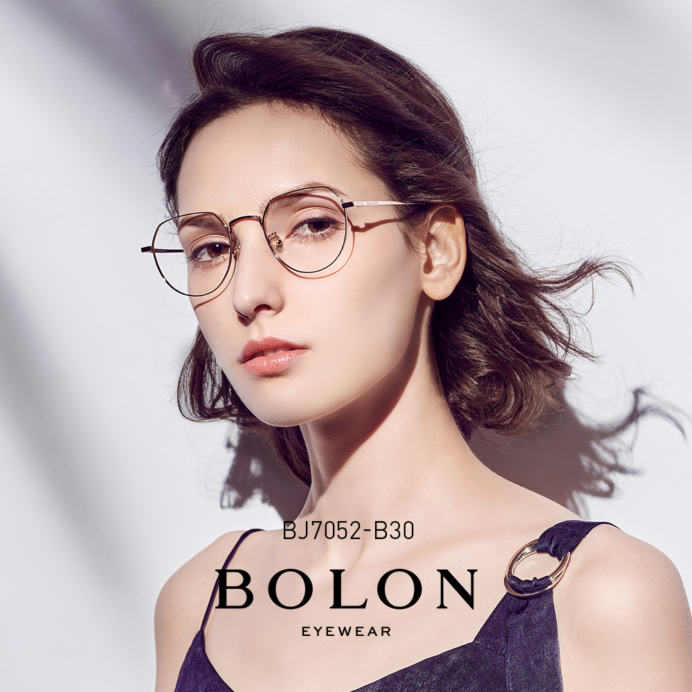 BOLON暴龙圆框光学镜男女潮流网红近视眼镜框架王俊凯同款BJ7052