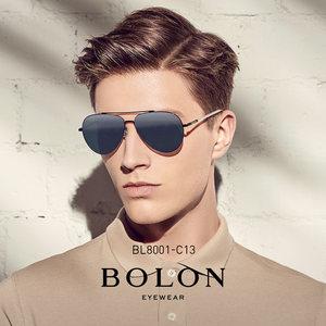 BOLON暴龙偏光太阳镜男士金属复古蛤蟆镜时尚墨镜开车眼镜BL8001
