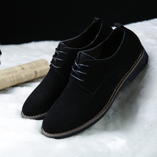 Men's British leather flip-flop shoes, sanded leather, high-quality low-upper shoes, suede leather, men's lace-up shoes, casual shoes, flip-flop shoes