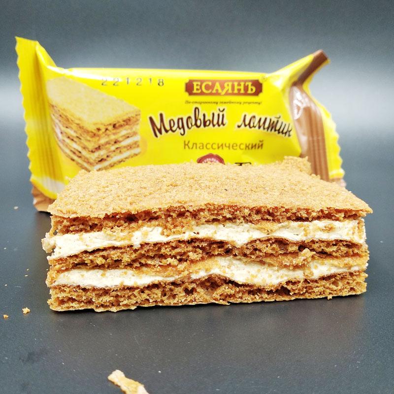店主推荐俄罗斯进口耶撒雅尼牌蜂蜜传奇提拉米苏味经典蛋糕41g