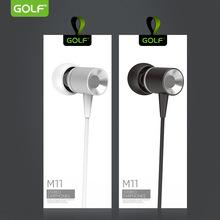 GOLFM11立体声入耳式尼龙线编织通用型手机带麦通话金属线控耳机