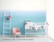 耐擦洗环保墙纸清新竖纹淡粉色条纹男孩女孩儿童高度卧室满铺