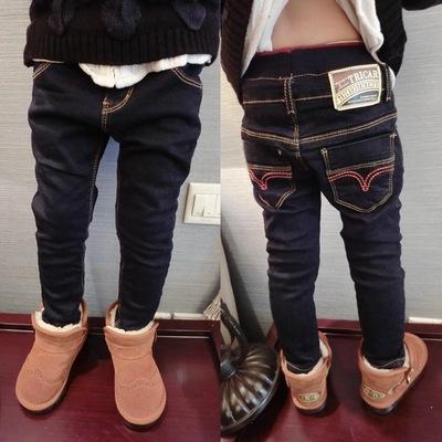 春秋季男童黑色牛仔裤3男4儿童修身长裤6岁小脚裤子5小孩长裤外穿