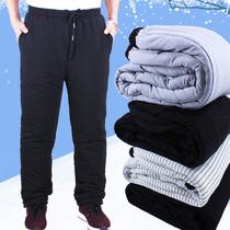 男士休闲棉裤宽松爸爸老人爷爷保暖裤中老年人棉裤男冬季加厚外穿