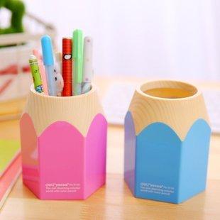 得力彩色笔筒办公桌大铅笔笔筒创意多功能笔筒笔桶桌面收纳笔
