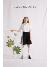 DOSORDONTS originally designed black special-shaped loose special-shaped removable trousers waist shorts