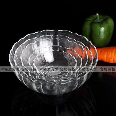 满29元包邮钢化耐热玻璃碗米饭汤碗面条碗可微波消毒柜不怕烫