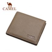 骆驼钱包男短款头层牛皮商务钱夹折叠薄款 正品男士青年皮夹真皮