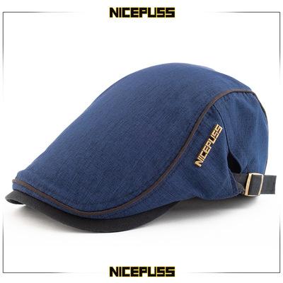 鸭舌帽男士贝雷帽女夏季薄款透气夏天帽子简约韩版休闲百搭画家帽