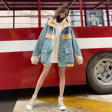 Workwear Jacket Female Spring and Autumn 2019 New BF Trend Korean Edition Student Loose Leisure Jacket Trend