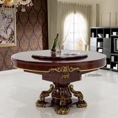 圆形餐桌麻将机全自动餐桌两用带椅子机麻家用欧式守镜缍麻将桌图片