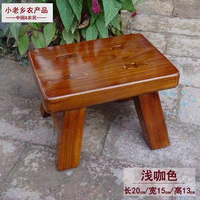 实木小板凳复古做旧舞蹈儿童垫脚成人家用怀旧跳舞矮板凳洗衣凳子
